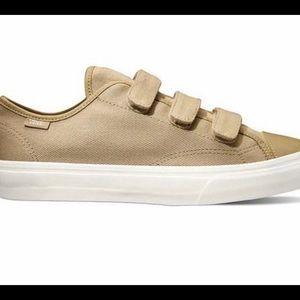 VANS beige strap on shoes